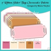 7 Ribbon Slider Tags Cheesecake Palette