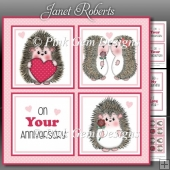 Hedgy Love Squares Mini Kit