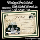 Vintage Post Card Car Card Front 21