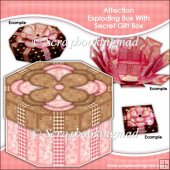 Affection Octagonal Exploding Box With Secret Gift Box
