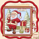 Sackless Santa Humorous Christmas Decoupage 7.5 Kit