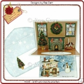 107 Christmas Fireplace Pop-Up *MACHINE & HAND Cut Files*