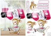 Mrs Pink Gin Mouse With Matching Insert