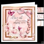 Pink Flowers Birthday Mini kit