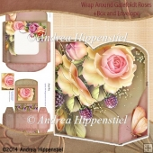 Wrap around Gatefold Card Roses
