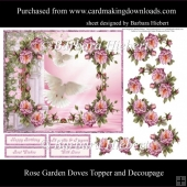 Rose Garden Doves Topper and Decoupage