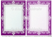 2 x A5 Purple (1) Lace Frames for Card Making & Scrapbooking