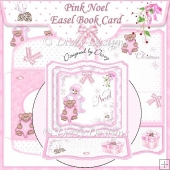 Pink Noel Easel Book Card
