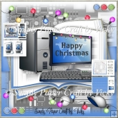 Computer Christmas Open Book