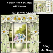 Window View Card Front - Wild Flowers