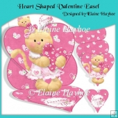 Heart Shaped Valentine Easel Card