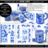 Delft Rabbit: Easter Mug Wrap and Toppers