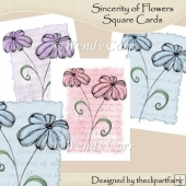 Ready to Print Cards - Sincerity of Flowers