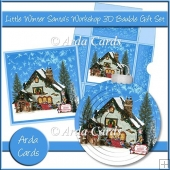 Little Winter Santa's Workshop 3D Bauble Gift Set