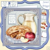 APPLE PIE & CUSTARD 7.5 Decoupage & Insert Kit
