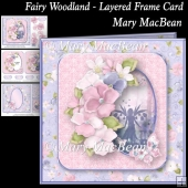 Fairy Woodland - Layered Frame Card