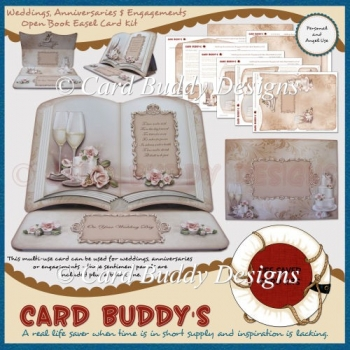 Weddings, Anniversaries & Engagements Open Book Easel Card Kit