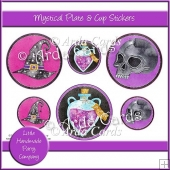 Mystical Plate & Cup Stickers