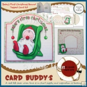 Baby's First Christmas Round Topped Card Kit