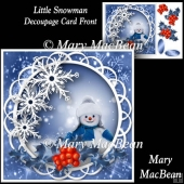 Little Snowman - Decoupage Card Front
