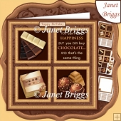 CHOCOLATE LOVER SQUARES 7.5 Quick Layer Card & Insert Kit