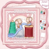 MEASURE UP MICE Sewing 8x8 Decoupage & Insert Mini Kit