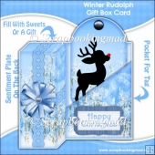 Winter Rudolph Gift Box Card