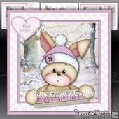 Bunny's 1st Christmas Pink Mini Kit