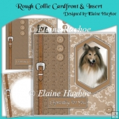 Rough Collie Cardfront & Insert