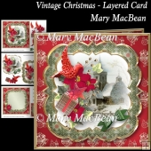 Vintage Christmas Layered Card