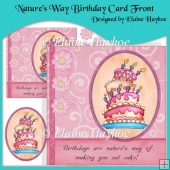 Nature's Way Birthday Card Front with Pyramage