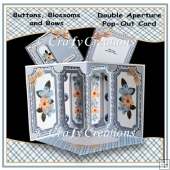 Buttons Blossoms & Bows Double Aperture Pop-Out Card