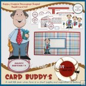 Happy Chappie Decoupage Shaped Easel Card Kit