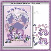 Be My Tweet Heart A5 Card Front