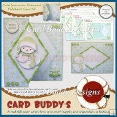 Cute Snowman Diamond Foldback Card Kit