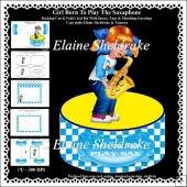Girl Born To Play The Saxophone - Rocking Cut & Fold Card Kit