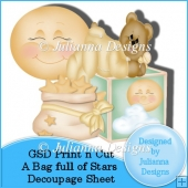 GSD Print n Cut Bag Full of Stars Decoupage Cutting File