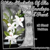 White Gladiolus Of The Night Envelope Card Front
