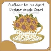 SUNFLOWER CUP AND SAUCER CLIPART
