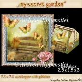 Gablebox with matching cardtopper in my secret garden