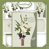 Lily and Cross Wavy edge card set