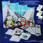 Penguins Christmas - Over the Edge Decoupage Concertina Card Kit