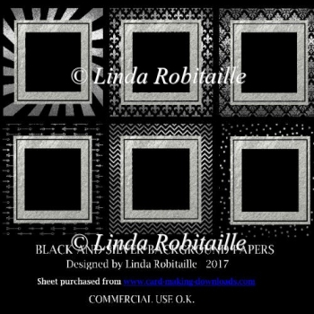 Black and Silver Background Papers