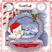Christmas frame easel card set 8