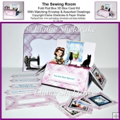 The Sewing Room - 3D Pop Up Box Card Kit, Ass.Tags & Envelope