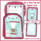 Up & Away Pop Out Banner Card