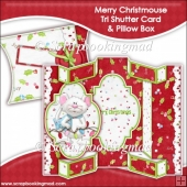 Merry Christmouse Tri Shutter Card With Matching Pillow Box