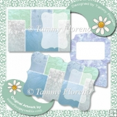 Frosted Window Notelet Set