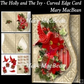 The Holly and the Ivy - Curved Edge Card