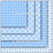 Blue Multi Square Diamond Pattern Papers